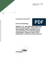 As 5013.11.2-2006 Food Microbiology Microbiology of Food and Animal Feeding Stuffs - Preparation of Test Samp
