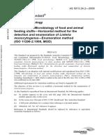 As 5013.24.2-2009 Food Microbiology Microbiology of Food and Animal Feeding Stuffs - Horizontal Method for Th