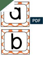 Orange Polka Letters