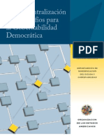 La Descentralización y los Desafíos para la Gobernabilidad Democrática - Por OEA