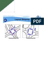 Layout Simpang