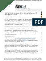 How to Install Windows Home Server 2011