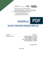 Trabajo Bombas Electrosumergibles