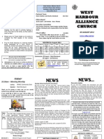 Church Newsletter - 05 August 2012