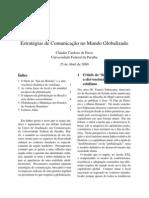 Estratégias de Comunicação no Mundo Globalizado