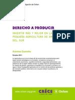 INVERTIR MÁS Y MEJOR EN LA PEQUEÑA AGRIC. EN AMERICA DEL SUR