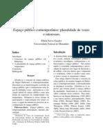 Espaço público contemporâneo_pluralidade de vozes e interesses