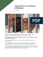 Abu Bakar Bashir Threatens War if Burma Harms Muslim Rohingyas