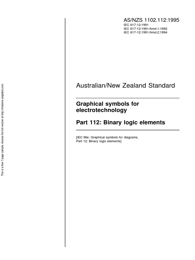 As nzs 1102112 1995 graphical symbols for electrotechnology as nzs 1102112 1995 graphical symbols for electrotechnology binary logic elements international electrotechnical commission royalty payment buycottarizona