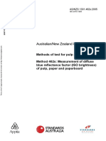As NZS 1301.462s-2005 Methods of Test for Pulp and Paper Measurement of Diffuse Blue Reflectance Factor (ISO