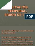 Aplicacion Temporal Error Tipo
