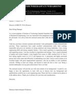 Cover Letter Damasus