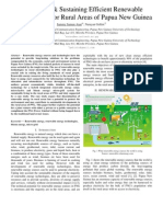 Devloping & Sustaining Efficient Renewable Energy Source for Rural Areas in Papua New Guinea