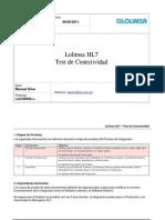 Test de Conectividad - Laboratorio HL7 - Lolimsa