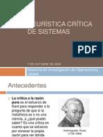 Heurística de sistemas críticos