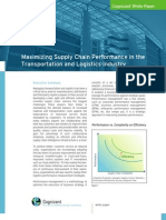 Maximizing Supply Chain Performance in the Transportation and Logistics Industry