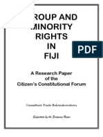 Group and Minority Rights in Fiji - Ccf