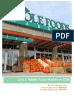 Caso 1 - Whole Foods Market