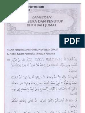 Bacaan Khutbah Jum At Tulisan Arab
