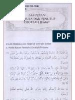 Bacaan Khutbah Jum'at ( Tulisan Arab )