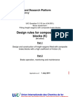 Construction Guidelines for K Brake Blocks UIC En