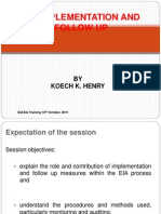 Eia Implementation and Follow Up-slide Presentation