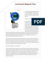Learning Concerning the Magnetic Flow Meter 2