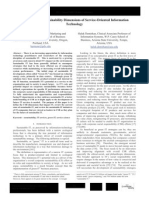 The Corporate Sustainability Dimensions of Service-Oriented Information Technology