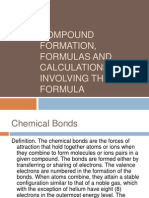 Compound Formation, Formulas and Calculations Involving The