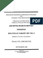 Holtville Rocket Range No. 3