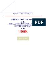 The Role of the State Socialist Transformation K.v.ostrovi