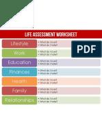 Life Assessment Worksheet