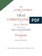 Les Quatre Livres du Vrai Christianisme - Livre II - Livre de Vie ou le Christ