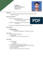 Mykhel Resume