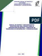 INSTRUCTIVO NORMAS Y PROCEDIMIENTOS