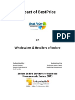 Impact of BestPrice by Bharti Wallmart on Wholesalers and Retailers of Indore