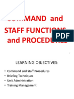 Command and Staff