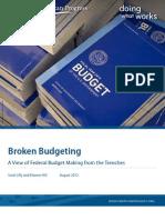 Broken Budgeting