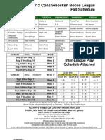 2012 Fall Schedule