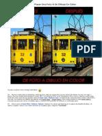 Como Pasar Una Foto a Un Dibujo en Color
