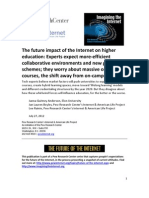 The Future Impact of the Internet on Higher Education