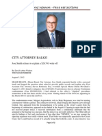 Miami Beach City Attorney Jose Smith Balks