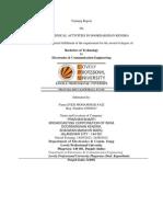PROJECT OF VARIOUS TECHNICAL ACTIVITIES IN DOORDARSHAN KENDRA