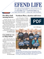 Defend Life Newsletter (2006 Prolife Propaganda)