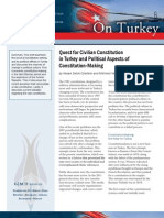 Quest for Civilian Constitution in Turkey and Political Aspects of Constitution-Making