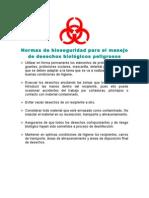Normas de bioseguridad para el manejo de desechos biológicos peligrosos