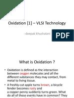 Oxidation – VLSI Technology