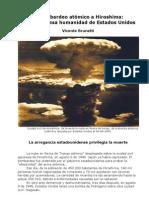 Bombardeo atómico a Hiroshima-Crimen de lesa humanidad de EE.UU