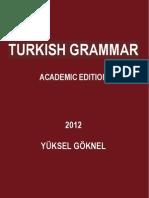 TUTKISH GRAMMAR ACADEMIC EDITION YÜKSEL GÖKNEL 2012