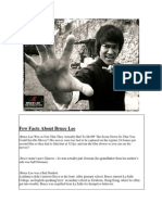 Few Facts About Bruce Lee